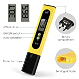 Digital pH Meter, 0.01 High Precision Water Quality Tester PH Range 0 to 14 Suitable for Domestic Drinking Water Aquarium Swimming Pool Water Quality Tester