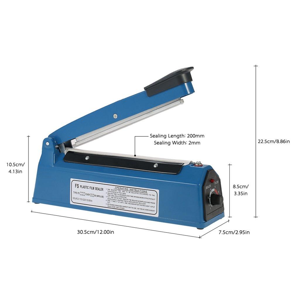 Nestling® Sellador de bolsas de plástico, 200 y 300 mm, sellador por ...