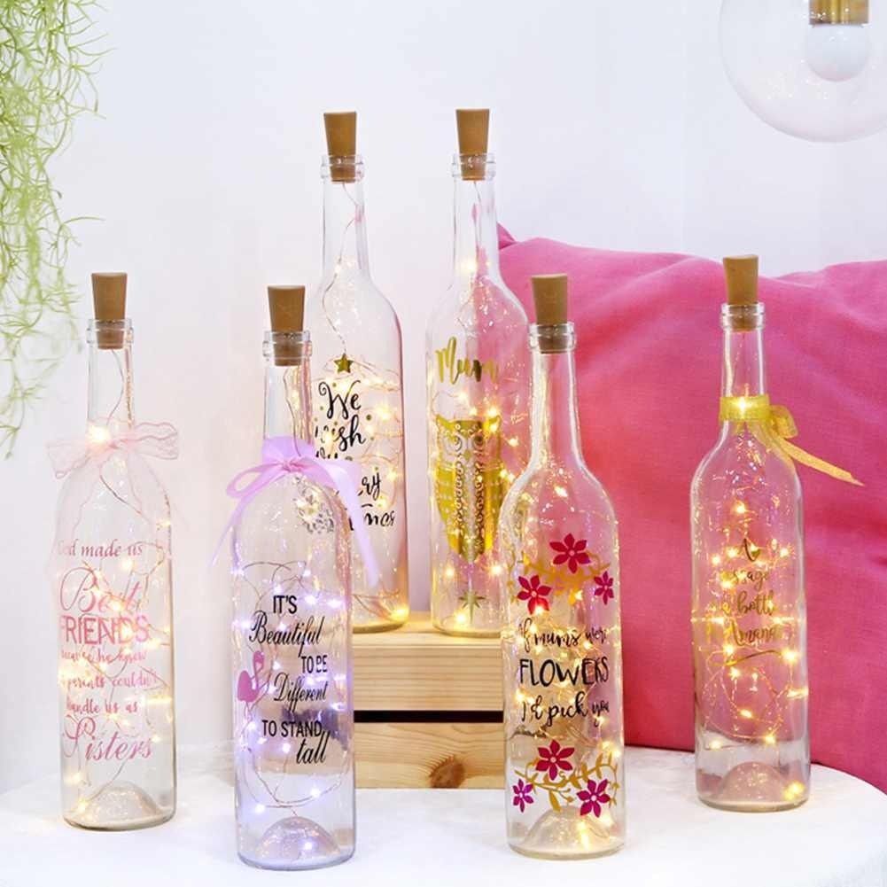 Amazon.com : LOGUIDE Warm White Wine Bottle Cork Lights Starry 6.5FT ...