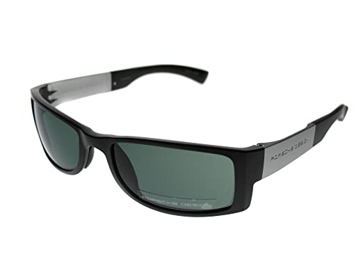 6c93958475ec Porsche Design P8432 A 5518 Sunglasses 130 V594 E76 Green Black Designer  Shades  Amazon.co.uk  Clothing