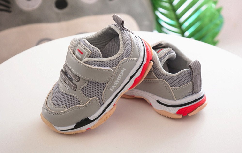 cf95857a9d974 Scarpe Da Bambina Ginnastica Scarpe Sportive Bambino Sneaker Bambino 24  Sneaker Bambino Pelle Bimbo Bambino Sport Scarpe Running Lettera Solido  Mesh Scarpe ...