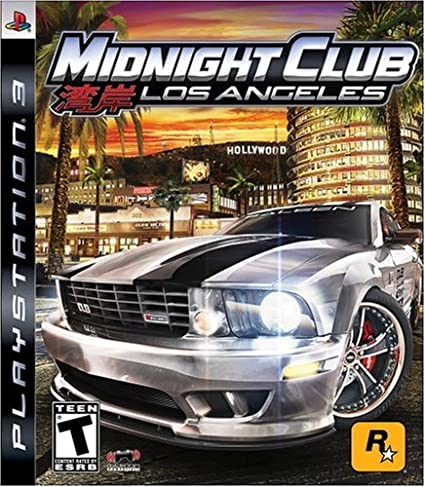 Midnight Club: Los Angeles Playstation 3 cover game