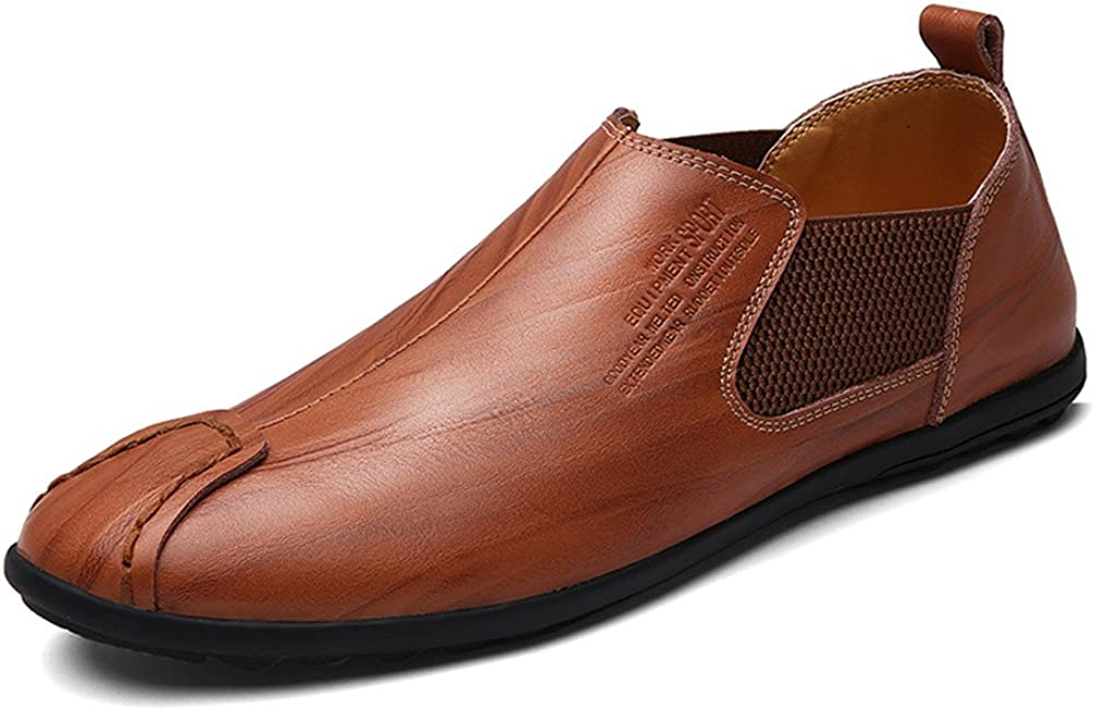 Aaron Mens Driving Shoes Premium Genuine Leather Fashion Slipper Casual Slip On Loafers Shoes