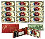 NEW Set of 13 - Chinese ZODIAC New Year OFFICIAL US $2 Bill RED POLYCHROME BLAST