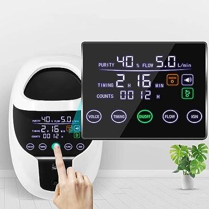 HUKOER Concentrador de oxígeno Portátil 1-7 l/min Generador de ...