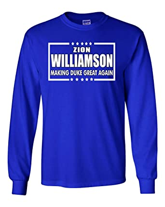 the best attitude 32ce5 7ce50 Long Sleeve Blue Duke Williamson Duke Great Again t-Shirt at ...