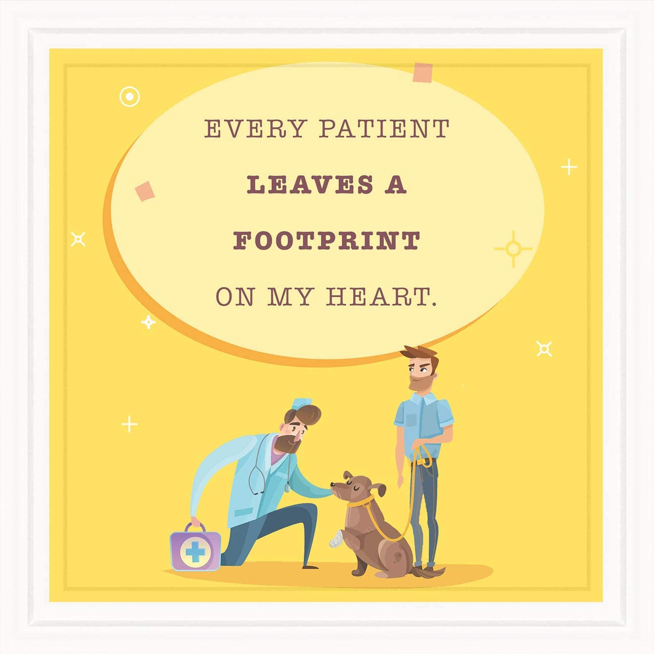 Gifts for Veterinarians | 7x7 Tile Artwork for Veterinarian | Vet Technician Appreciation Gift | Graduation Present for Veterinary Student | Great for Cat and Dog Lovers | Cute Clinic & Office Decor