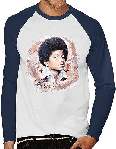 VINTRO - Camiseta de manga larga para hombre Michael Jackson Jóvenes de béisbol original con estampado profesional por Sidney Maurer: Amazon.es: Ropa y accesorios