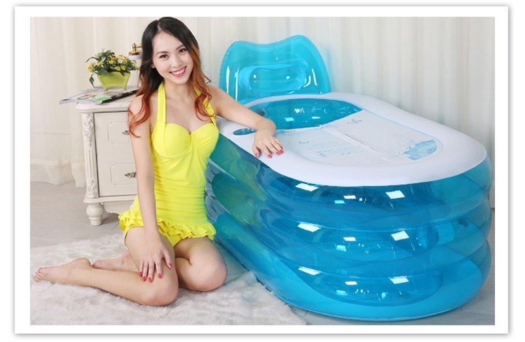 Ymxljfbañera Inflable Bañera Inflable Plegable para Adultos: Amazon.es: Hogar