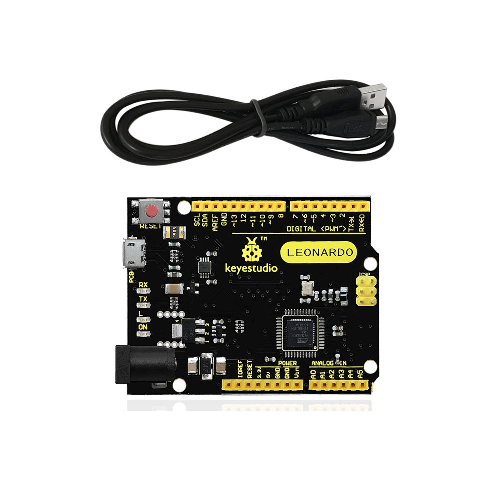 KEYESTUDIO Leonardo R3 Development Board USB Cable, Perfectly Compatible Arduino