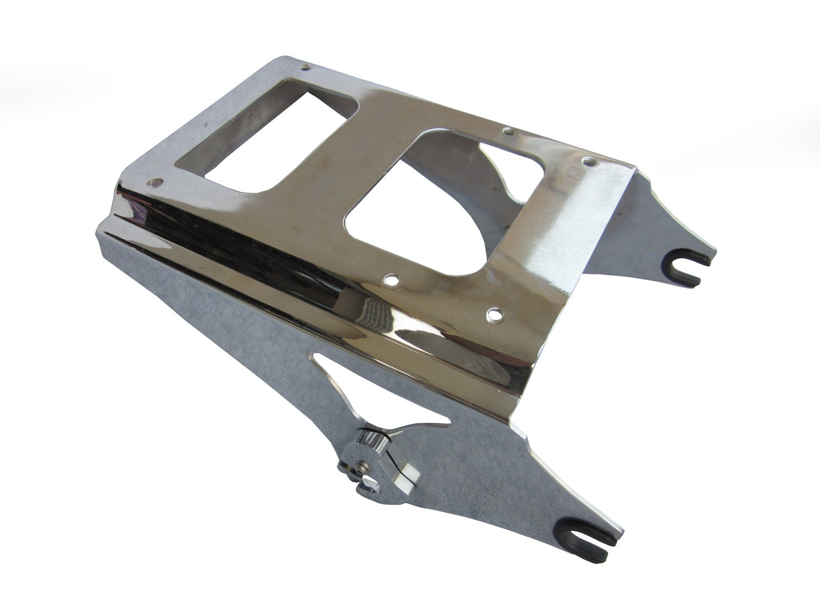 Detachable Two-Up Style Tour Pack Mounting Rack for 2009-2013 Harley Davidson Touring - Chrome