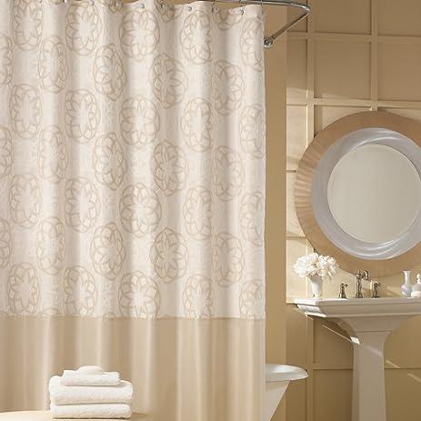 cream colored shower curtain. DS Bath Odisha Cream Shower Curtain Contemporary Mildew  Resistant Polyester Fabric Amazon com