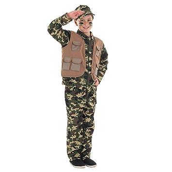 Fun Shack- Costume Disfraz, Color Army Uniform, Small ...