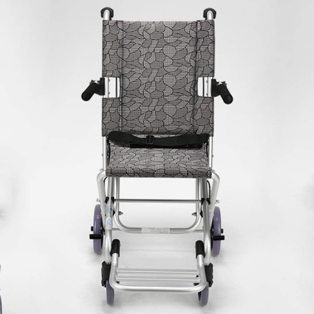 GBX@I Ancianos Silla de ruedas Plegable Portátil Ancianos Discapacitados Ultraligero Viaje Niños Silla de ruedas Trolley Pequeño Conducir Médico fj
