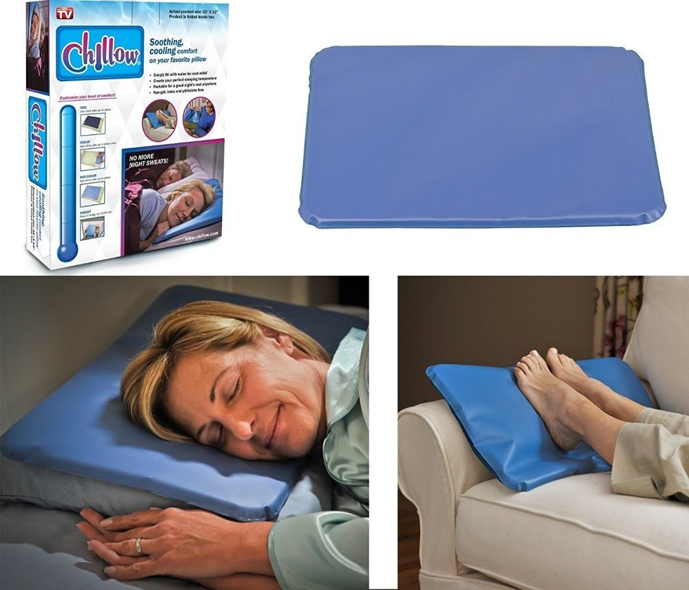 New Chillow Cooling Pillow Pad Device Insert Comfort Sleeping