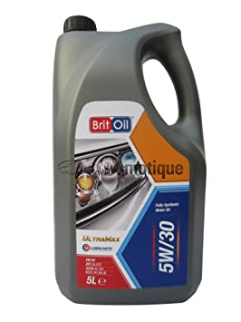 VAUXHALL CORSA ECOFLEX (06-) BRITOIL FULLY SYNTHETIC ENGINE OIL 5W30