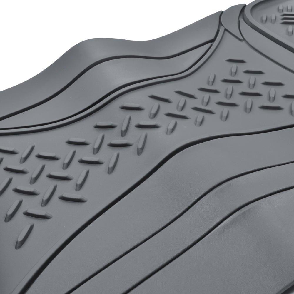 100/% Odorless /& Super Heavy Duty - MT813BKAMw1 Motor Trend HD FlexTough Rubber Floor Mats for Car Truck SUV /& Van Black