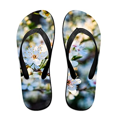 bfe344d0f Jinqiaoguoji Personalized Casual Sour Cherry Summer Spring Blossom White  Cherry Garden Womens Sandals Beach Sandals Pool