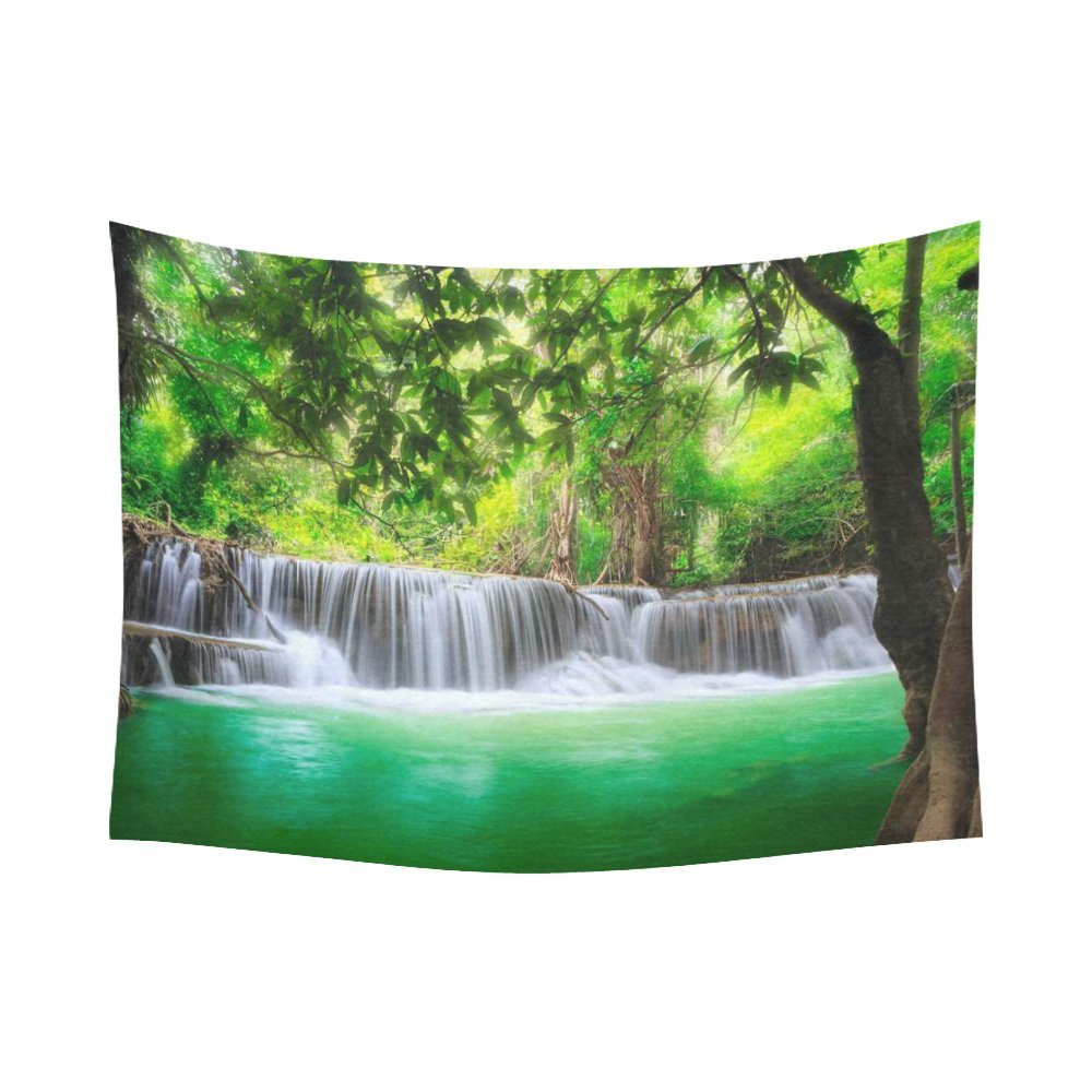 Amazon.com: INTERESTPRINT Scenery Wall Art Home Decor, Waterfall Mountain  In Forest Jungle Landscape Nature Tapestry Wall Hanging Art Sets 80 X 60  Inches: ...