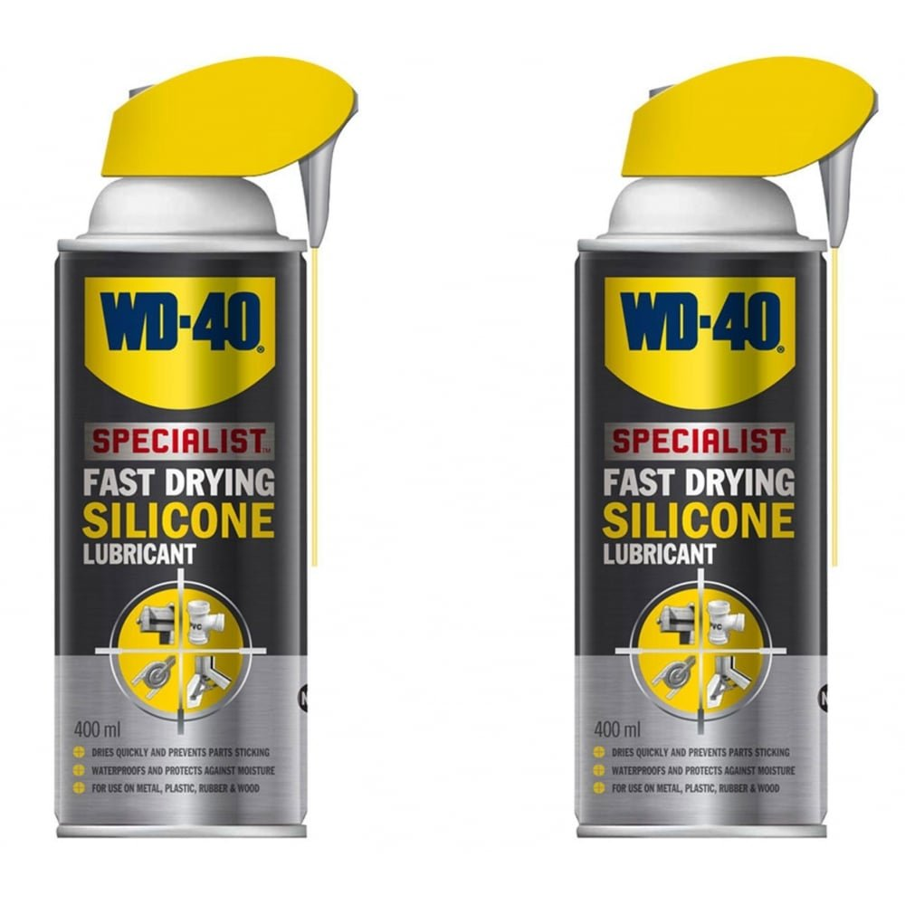 Specialist High Performance Silicone Smart Straw Spray 2 Can 400ml 44377 WD40