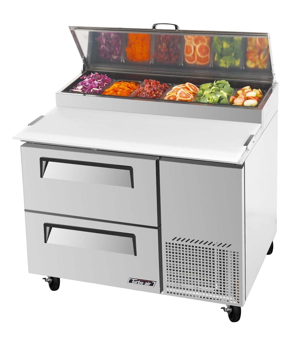 Turbo Air TPR-44SD-D2 Solid Drawer Pizza Prep Table
