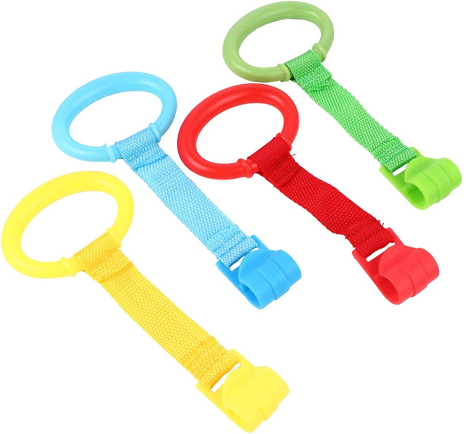 Baby Toddler Walking Assistant Pull Up Ring Safety Stand Up Rings for Toddler-4PCS
