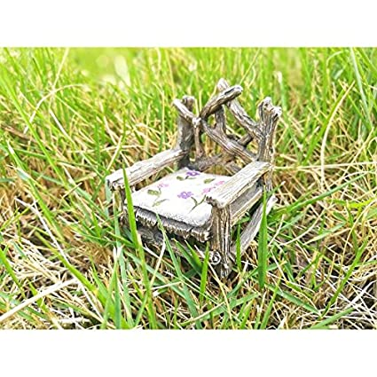 Amazon.com: Miniatura Jardín de hadas hada trono (nuevo ...