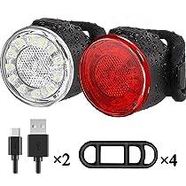 Luces Bicicleta Kit, Impermeable LED Luz Bicicleta, luces ...