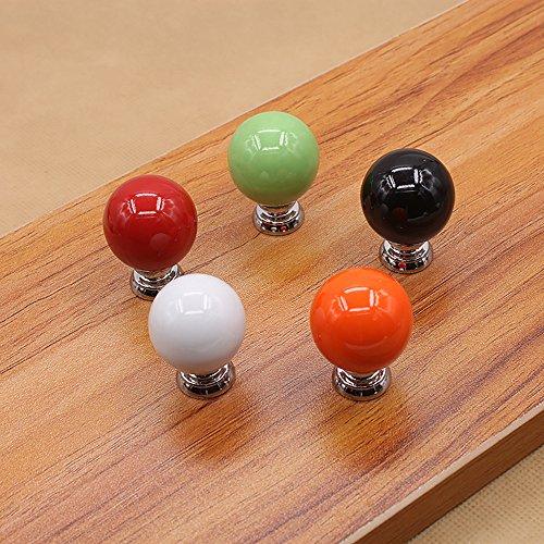 Zhi Jin 6Pcs Cute Cabinet Knobs Handle Round Ball Drawer Knob Pulls Set for Kids Kitchen Cupboard Orange by Zhi Jin (Image #3)