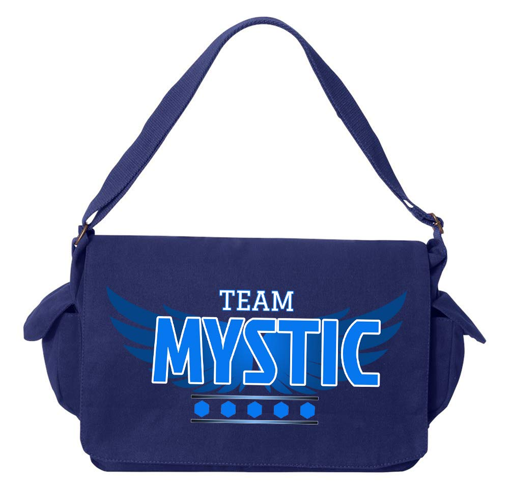 Tenacitee Team Mystic Royal Blue Brushed Canvas Messenger Bag