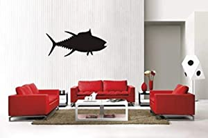 A Design World Home Quotes Wall Stickers Tuna Fish Sty2 Removable Vinyl Wall Decal Home Decor for Bedroom Living Room Office Family