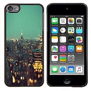 - city lights New york night buildings - - Modelo de la piel protectora de la cubierta del caso FOR Apple iPod Touch 6 6th Generation RetroCandy