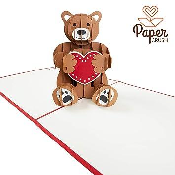 Papercrush Pop Up Card Teddy Bear Original 3d Card For Various