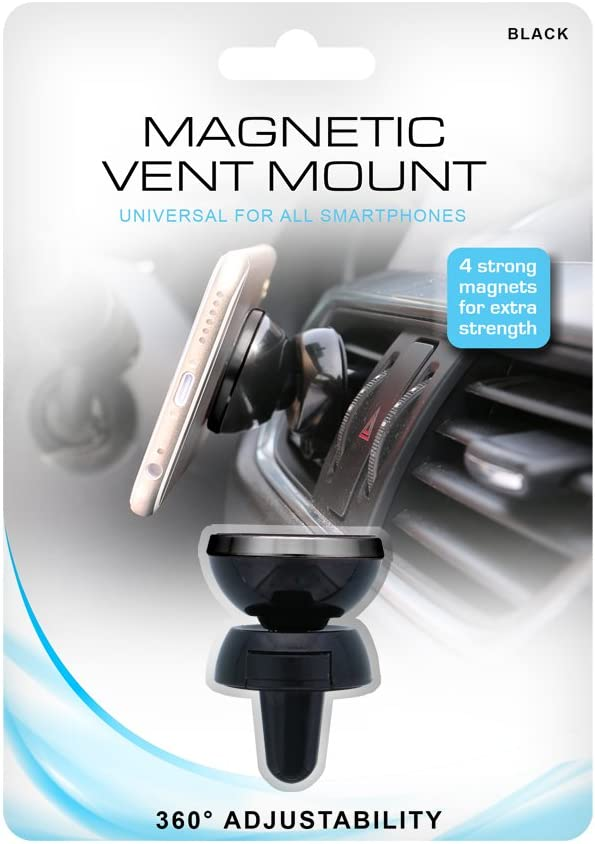 ONN WMH3-1002-BLK Magnetic Vent Mount Easy to Install Black