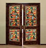 Bloss Non-adhesive Static Cling Window Shades Privacy Stained Glass Vinyl Window Film Panel, 17.7 Inches By 78.7 Inches