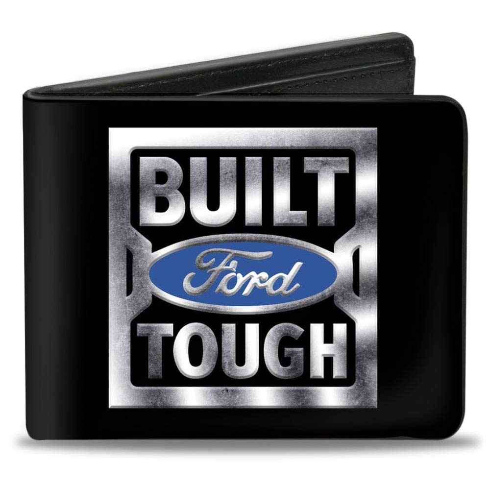 4.0 x 3.5 Buckle-Down Mens Bifold Wallet Built Ford Tough