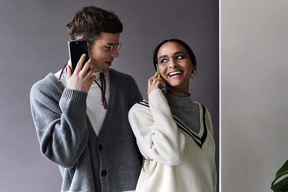 Anti-rasgu/ños Suave Silicona Transparente TPU Carcasa de movil con Colgante//Cadena YuhooTech Funda con Cuerda para Samsung Galaxy J3 2016, Moda y Practico Gris Anti-Choque