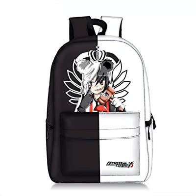 PaPama Boys Girls Monokuma Canvas Bag Travel Backpack with Front Pocket-Kids Students Danganronpa Bookbag for School | Kids\' Backpacks