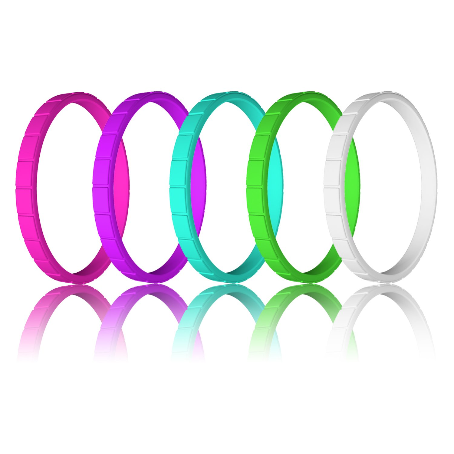 LUNIQI Braided Thin and Stackable Durable Rubber Safe Band for Love 10 Pack- Silicone Wedding Ring for Women Souvenir and Outdoor Active Exercise Style Couple