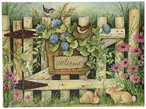 Lang Welcome Large Guest Book by Susan Winget, 9.33 x 6.8 Inches (1053027)