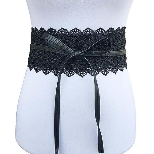 hibote cinturones elásticos de encaje para Mujerses disfraces jeans vestido de novia pretina
