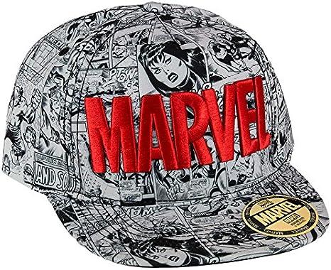 Marvel Comics Cap Red Logo Flat Back Gorra Gorro pantalla ...