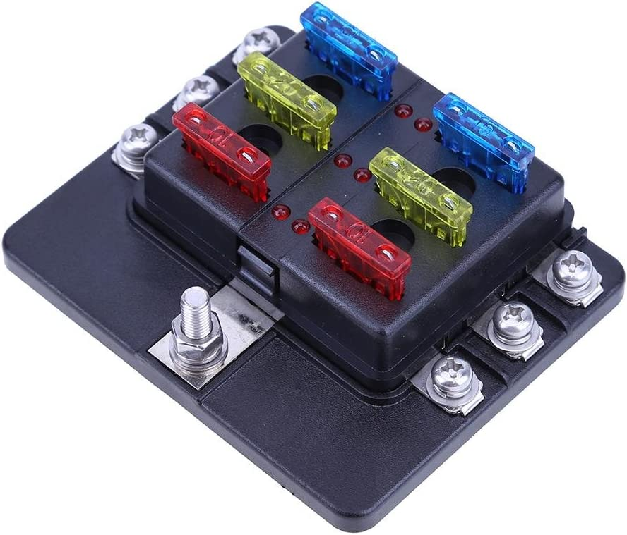 61rcFDGNoxL._AC_SR201266_ amazon com fuse boxes fuses & accessories automotive auto fuse box at bayanpartner.co