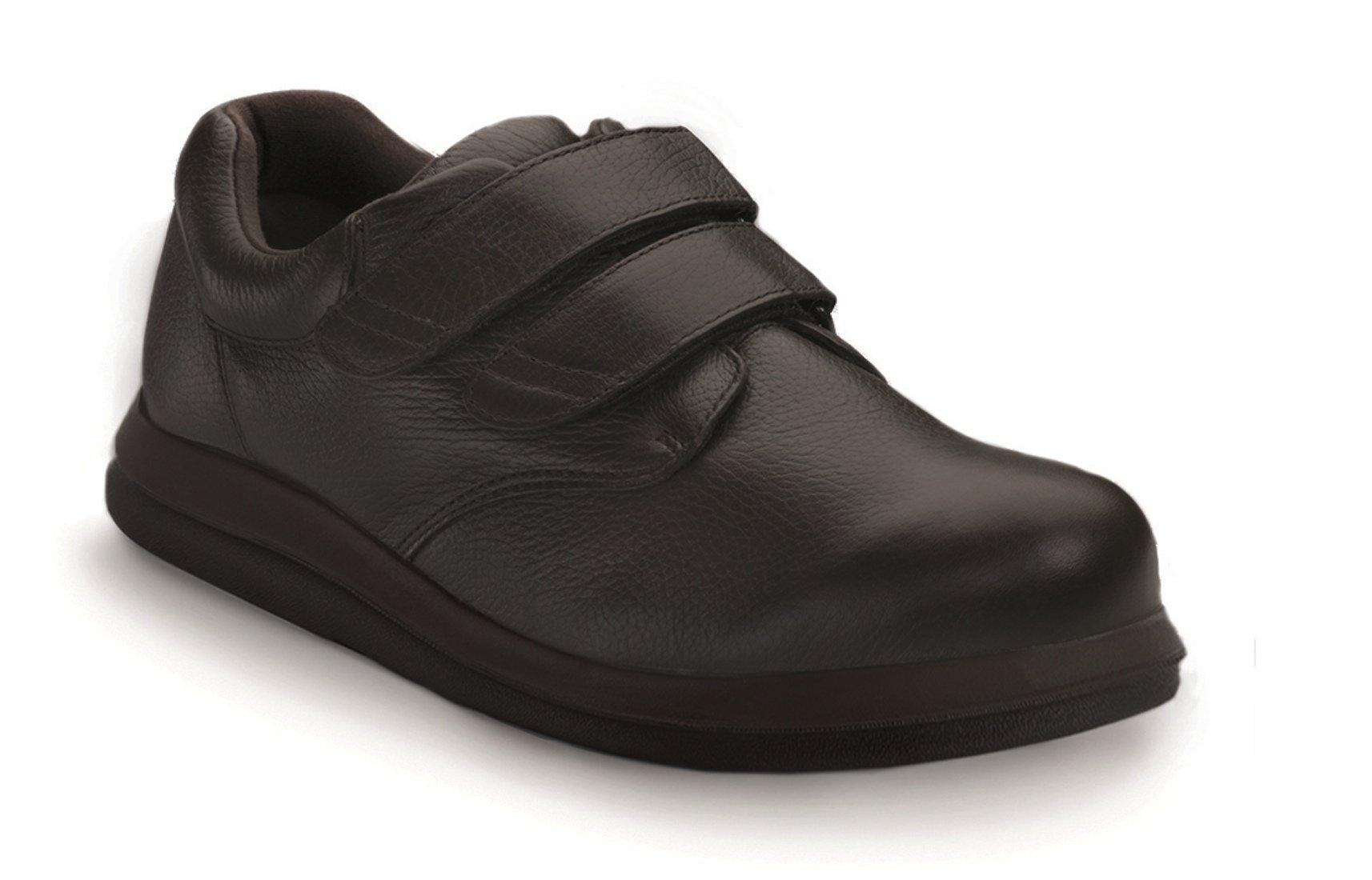 P W Minor Leisure Time DX2 Men's Therapeutic Extra Depth Shoe: Brown 11.5 Medium (D) Velcro