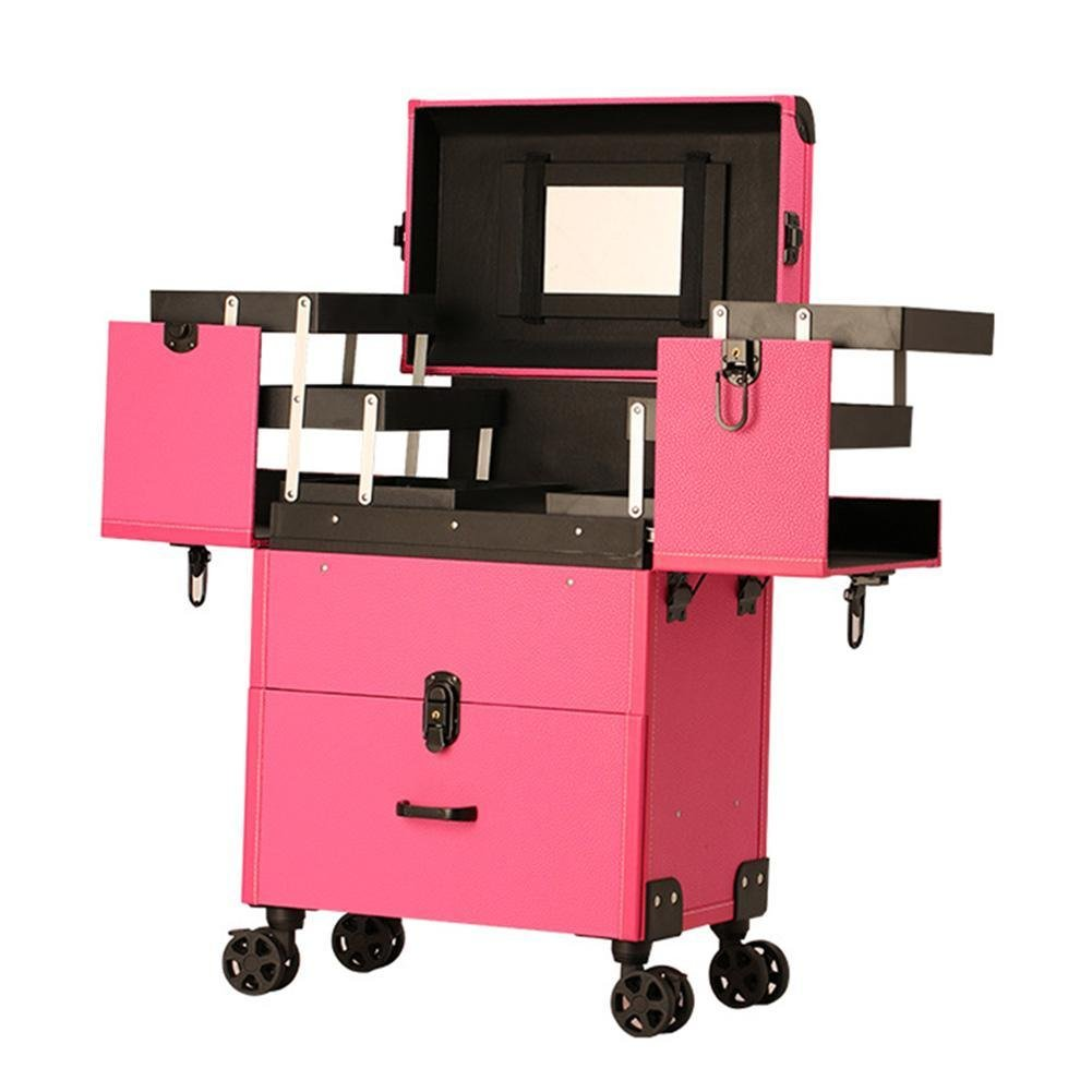 Gracefulvar Multifunctional Makeup Tattoo Nail Art Beauty Trolley Box