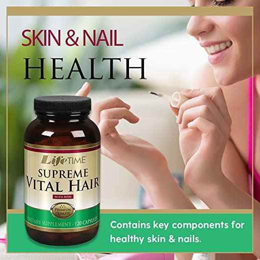 Com Lifetime Supreme Vital Hair With Msm 120 Cap Health Personal Care