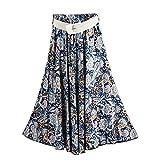 Kaachli Women's Cotton Floral Print Midi Skirt