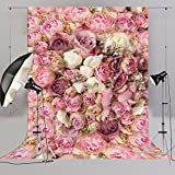 Large Rose Floral Backdrop for Ladies Pictures Wedding Bridal Shower Event Party Photography 3D Flowers Wall Decors D-8059
