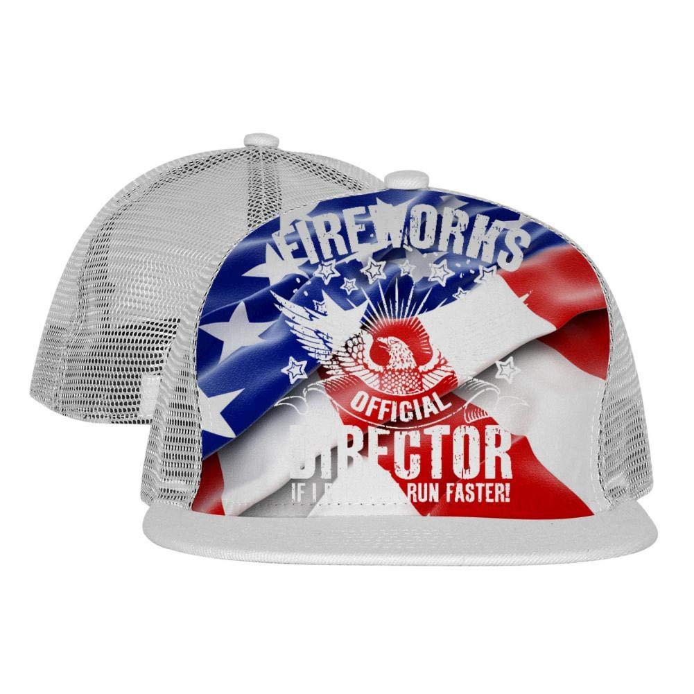 Lisa Cave Fireworks Official Director Adult Mesh Baseball Cap Flat Edge Dad Hat Adjustable Snapback
