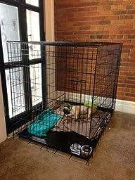 Amazon.com : Allmax 3-Door Folding Metal Dog Crate with